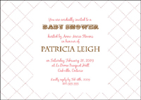 Style: Baby shower diamond pattern