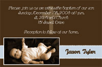 Brown & Blue baptism card