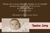 Brown & Pink Baptism card