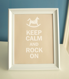 Style: Keep Calm and Rock On - light brown