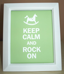Style: Keep Calm and Rock On - green