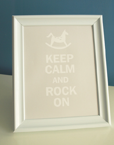 Style: Keep Calm and Rock On - grey