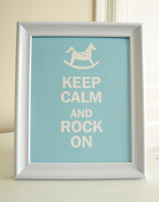 Style: Keep Calm and Rock On -  blue