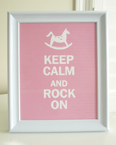 Style: Keep Calm and Rock On - pink