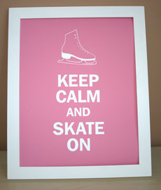 Keep Calm and Skate On - pink