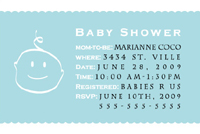 Style: Baby boy shower invite