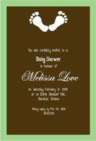 Style: Baby feet shower invite