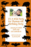 Style: Wild party invite
